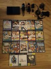 Sony PlayStation 2 Slimline Singstar Spiele + Mikrofone