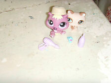 LPS Littlest Pet Shop Beaver and Raccoon lot toys girls accessories too fun