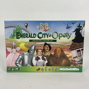 The Wizard of Oz Emerald City-Opoly Board Game 6 Metal Tokens Monopoly Mint