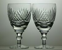 "TUTBURY CRYSTAL ""RICHMOND"" CUT CLARET WINE GLASSES SET OF 2 - 5 1/8"" TALL 8 OZ"