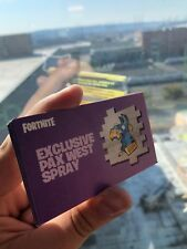 Fortnite Summer Skirmish Spray Code PAX WEST Llama Rare  EXCLUSIVE skin