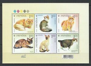 Ukraine 2008 Animals, Pets, Cats MNH sheet