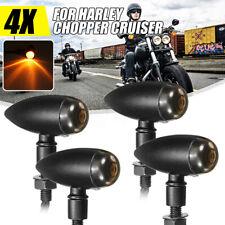 4x Frecce Indicatori Direzione Bullet Moto Custom Per Harley Universali Metallo