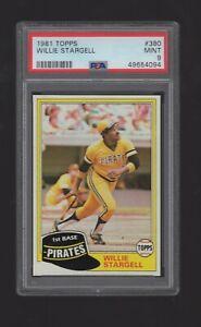 Willie Stargell 1981 Topps Baseball #380 - PSA 9 Mint! - (0023)
