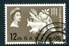 Q.E.II A 1963 FINE USED SET OF 1 SARAWAK F.F.H CAT.£2.30p ONLY 79p.