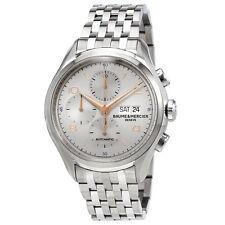 Baume et Mercier Clifton Automatic Chronograph Silver Dial Mens Watch MOA10130