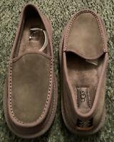 UGG Australia Men's Dex Suede Slip-on Sheepskin Dark Grey Slippers 1103901 Sz 8M