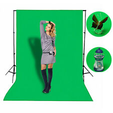 1.5x1M Photo Studio Screen Black White Green Background Backdrop Light Stand Kit