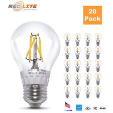 New 60W Equivalent 6W A19 Bulb Warm White LED Filament Light Bulb 2800K 20 Pack