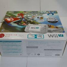 Wii U Premium shiro mario cart 8 sets japan used