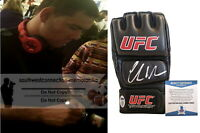 Chris Weidman MMA Champion Signed Autographed UFC Fight Glove Proof Beckett BAS
