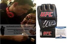 Chris Weidman MMA Champion Signed Autographed UFC Fight Glove Proof Beckett BAS