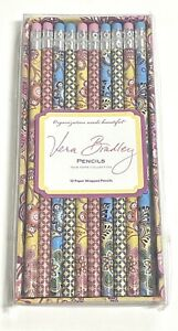 Vera Bradley Pencils 10 Paper Wrapped Pencil Set New NIB Take Note Collection