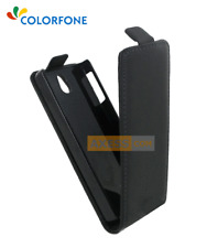 Etui Flip Rabattable CHIC CASE Noir / NOKIA Asha 515