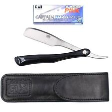 Kai Kasho Captain Professional Folding Straight Barber Razor Leather Case Blades