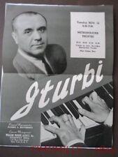 1944 Jose Iturbi Piano Concert Photomontage Handbill Providence Rhode Island Vg