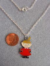 "Moomin Little My Enamel Charm Pendant Necklace 18"" Birthday Gift # 253"