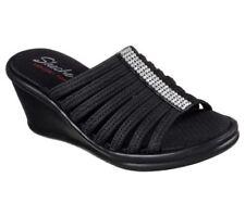 Calzado de mujer sandalias con tiras textiles de tacón medio (2,5-7,5 cm)