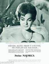 PUBLICITE ADVERTISING 115  1963  Perlas Majorica  les 7 couleurs d'Iris