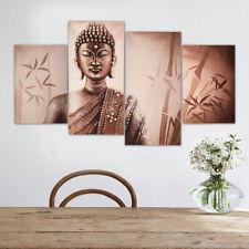 4Pcs/Set Buddha Wall Art Canvas Painting Prints Pictures Home Decor Frameless