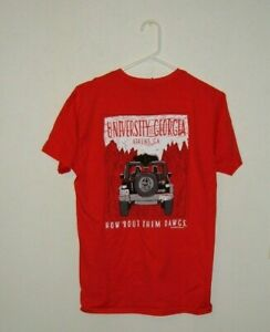 UNIVERSITY OF GEORGIA BULLDOGS RED JEEP  TEE SHIRT NEW LICENSED NEW