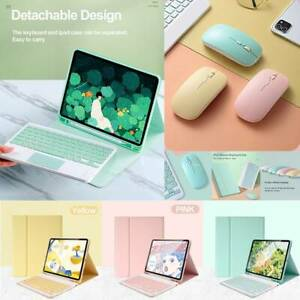 Keyboard Leather With Mouse Case For iPad 5/6th 7th 8th Gen 10.2 Mini Air Pro 11