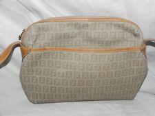 eb6f9e89903 Vintage Fendi Zucca Coated Canvas Tan Monogram Crossbody Bag Shoulder Bag