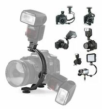 C-Shape Flash bracket for Canon Nikon Olympus Pentax DSLR Camera +Video Light