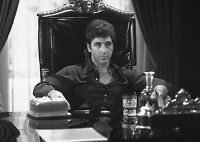 Scarface Al Pacino Vintage Large BOX CANVAS Art Print Black & White - All Sizes