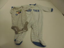Infant Boy S Little Brother Sleeper 100%Fun one piece Size NB
