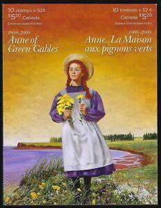 Canada BK380: pane of 10 x 52c, Anne of Green Gables, Scott 2278a 赤毛のアン