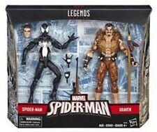 MARVEL LEGENDS Kraven Hunter Spiderman Black Suit Symbiote 2 Pack Set Exclusive!