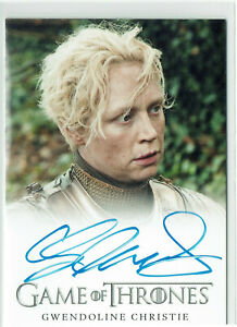 Game of Thrones Season 2 Autograph Card Gwendoline Christie as Brienne of Tarth