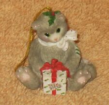 Calico Kittens Ornament White Kitten With Package