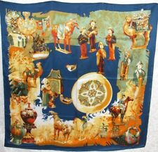 100% New Charmeuse Silk Scarf  - Tang Dynasty Art Painting