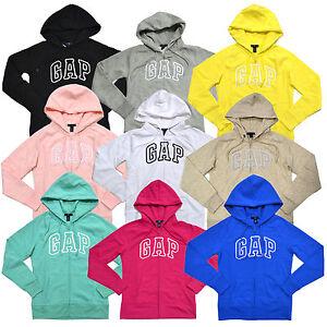 Gap Womens Hoodie Full Zip Up Jacket Fleece Lined Arch Logo Xs S M L Xl Xxl New