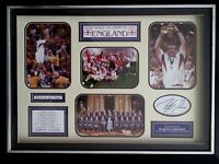 Martin Johnson 2003 England Rugby World Champions framed signature montage