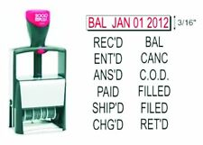 2000 Plus 2024 Rubber Date Stamp with 12 Messages - Self-Inking - Black Ink