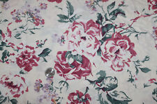 1 Yd Roses on Creme 100% Cotton Fashion Fabric Craft Sewing Hobby