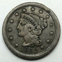 1852  Braided Hair Large Cent - Original- Nice Coin.