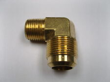 "Brass Fitting: Lead Free 45° Flare Male Elbow Tube OD 3/4"" Male Pipe 1/2"" Qty 25"