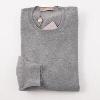 NWT $900 CRUCIANI Heather Gray 100% Cashmere Sweater XXL (Eu 56) Crewneck