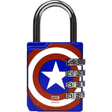Performa Ultra Premium En Relieve 4-Dial Cerradura De Combinación Para Gimnasio-Capitán América