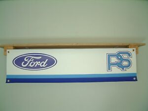 Ford RS Banner Car workshop garage Rallye Sport Motorsport Escort Fiesta Capri