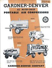 Equipment Brochure - Gardner-Denver - Water Cooled Air Compressor 2 items(E4271)