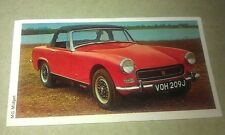 1971 MG MIDGET Sports Car Daily Express UK Trade Swap Card