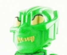 LEGO SPIDERMAN - Green Goblin Mask with Gold Eyes and Teeth - MASK ONLY