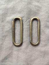 Original British Army Vintage Slade Wallace/Buff Leather Brass Belt Connectors