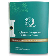 Natural Bamboo Charcoal Oil Absorbing Tissues - 100 Counts, Easy Take Out Design