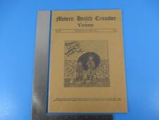 1931 Modern Health Crusader Vermont Booklet Board Health VT Tuberculosis M1600